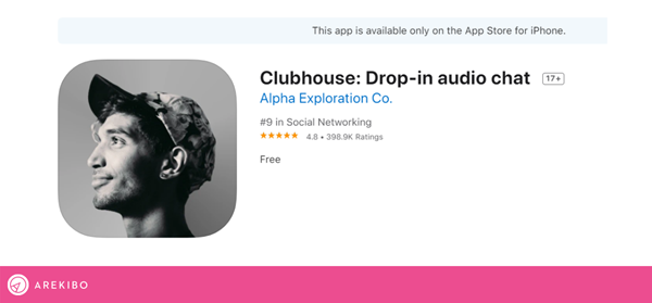 Clubhouse in app store.png